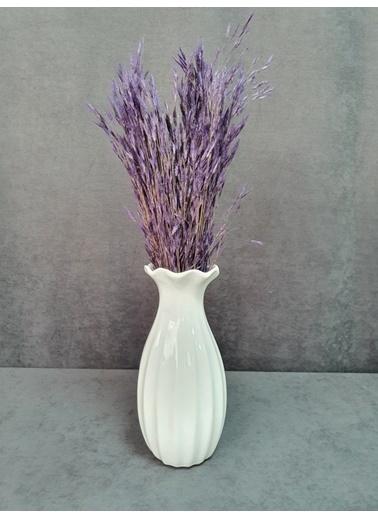 Kuru Çiçek Deposu Kuru Çiçek Yulaf Otu Demeti 50 Cm Yeşil   Mor